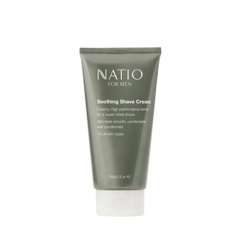 Natio フォアメン スージングシェービングクリーム 150g