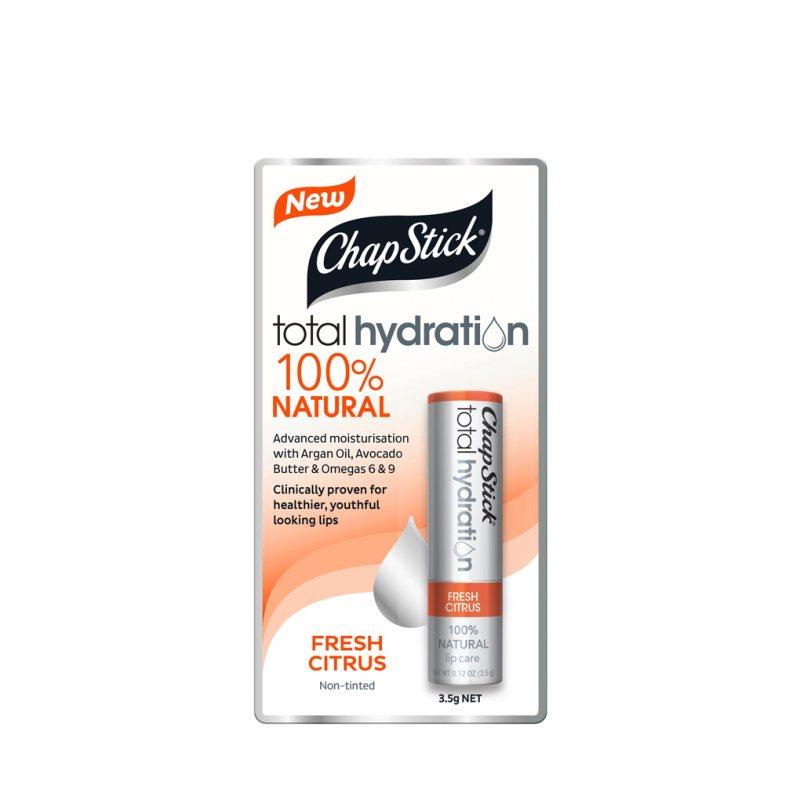 ChapStick トータルハイドレーション クリアーリップクリーム フレッシュシトラス 3.5g