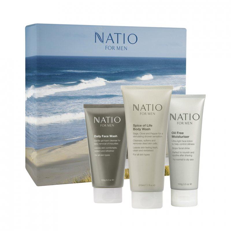 Natio メンズスキンケア 3点セット「Energetic」