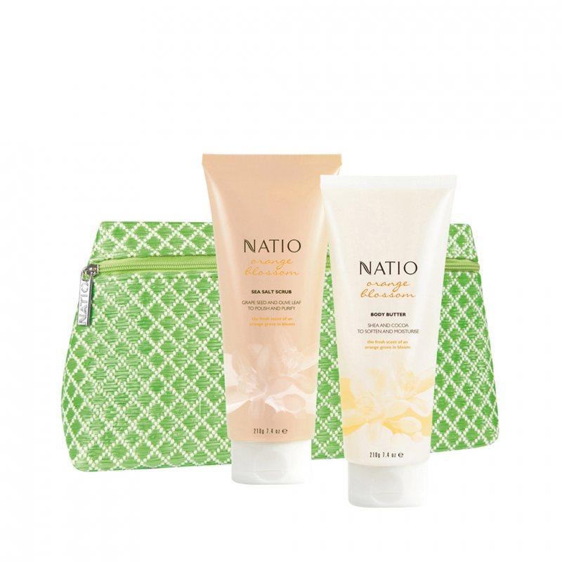 Natio オレンジブロッサム シャワーケア 3点セット「Butter Up」