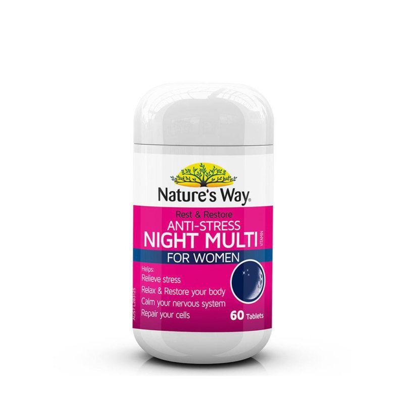 Nature's Way アンチストレス ナイト マルチビタミン フォーウィメン 60錠