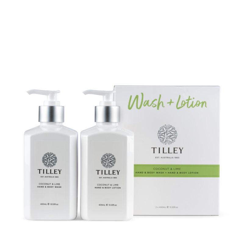 Tilley Australia ココナッツ&ライム ボディウォッシュ&ローション 2x 400mL